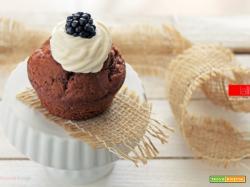Muffin allo yogurt greco e cacao