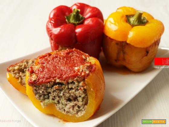 Peperoni ripieni di carne | Ricetta semplice