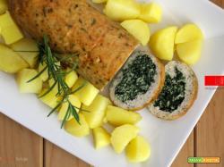 Polpettone ripieno con pollo e spinaci