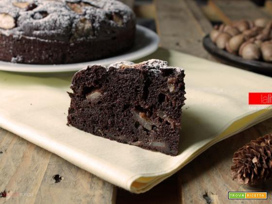 Torta al cacao e pere | Ricetta semplice