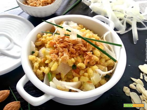Orzo salad croccante al profumo di  zafferano