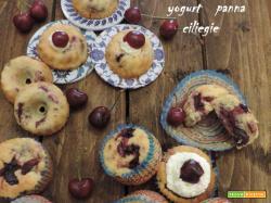 Muffin e ciambelline, yogurt panna ciliegie