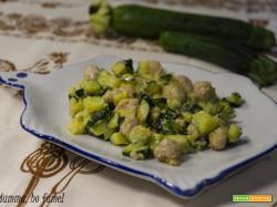 Straccetti di pollo con zucchine per bambini