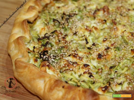 Torta salata di zucchine e squacquerone
