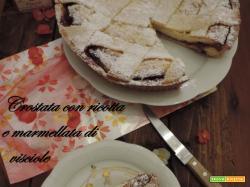 Crostata con ricotta e  marmellata di visciole