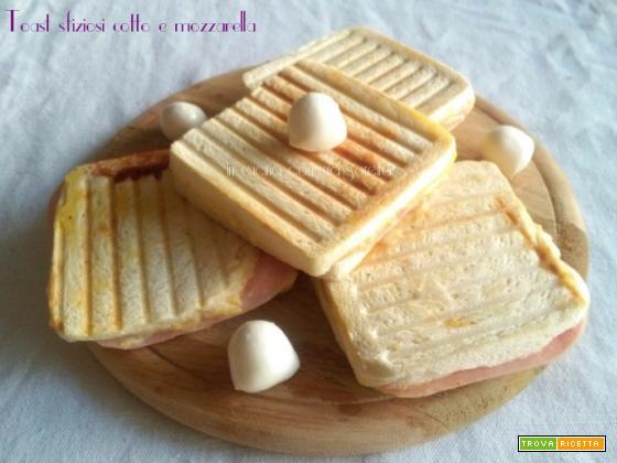 Toast sfiziosi cotto e mozzarella