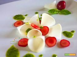 Insalatina di Rapa bianca con ciliegie ed emulsione di basilico