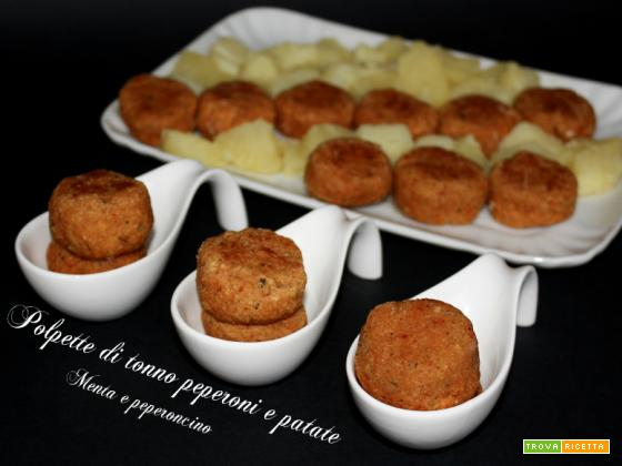Polpette di tonno peperoni e patate