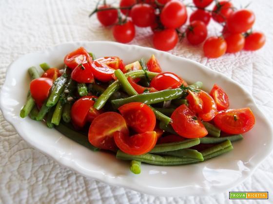 Insalata di fagiolini e pomodorini