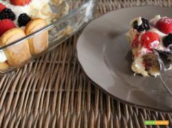 Tiramisù cremoso di yogurt e frutta