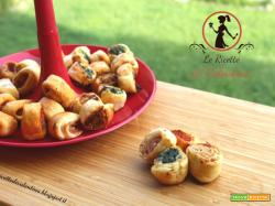 Salatini/Rustici misti cotti con la friggitrice ad aria