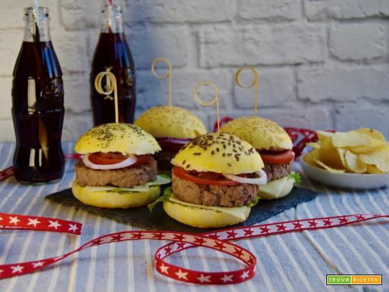 Panini per hamburger - 4th of july