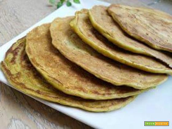Mini pancakes di piselli