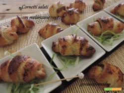 Cornetti salati con melanzane