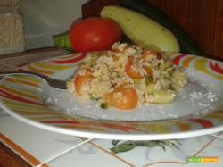 Risotto zucchine e pomodorini