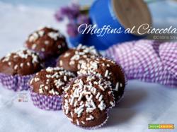 Muffins al cioccolato fondente, ricetta semplice