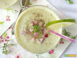 Gazpacho verde con soia e coriandolo