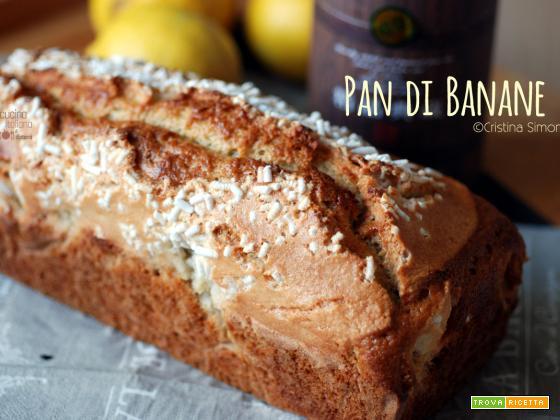 Pan di banane con glassa alle mandorle, ricetta dolce