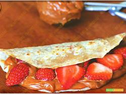 Piadina crema al cioccolato e fragole