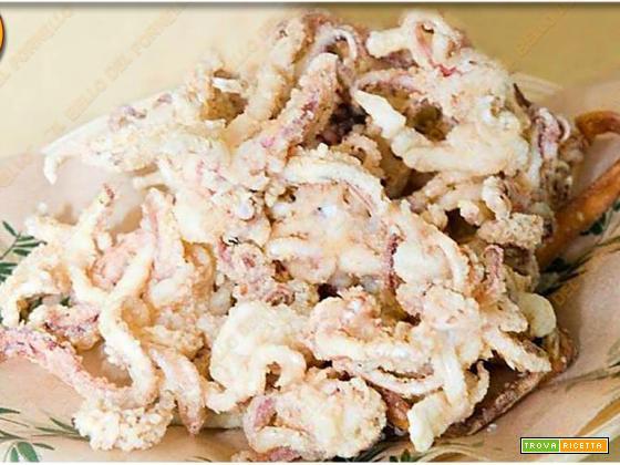 Ciuffi fritti di calamaretti