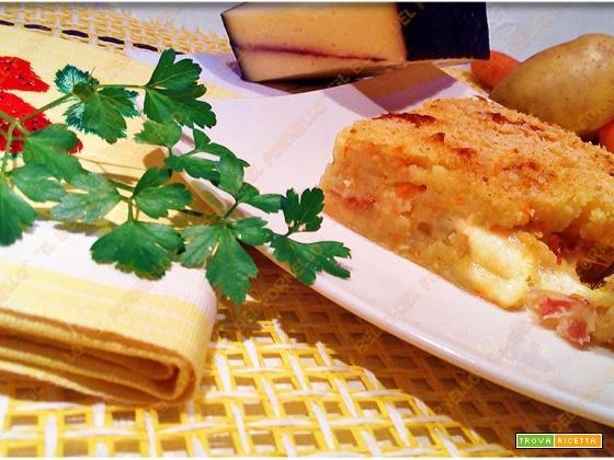Sformato di patate e carote