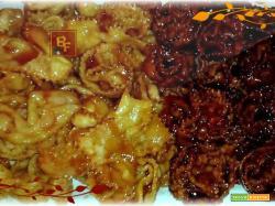 Cartellate con vincotto e con miele