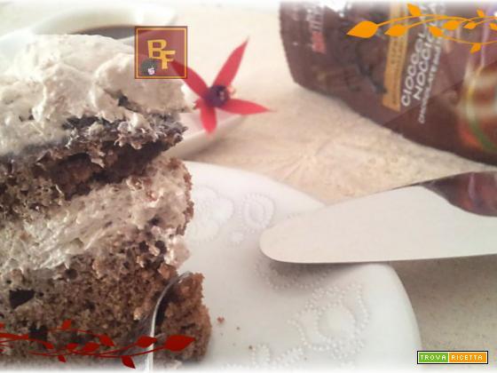 Torta al caffé con panna e ganache al cioccolato