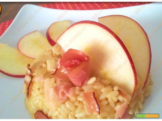 Risotto alla mela e speck