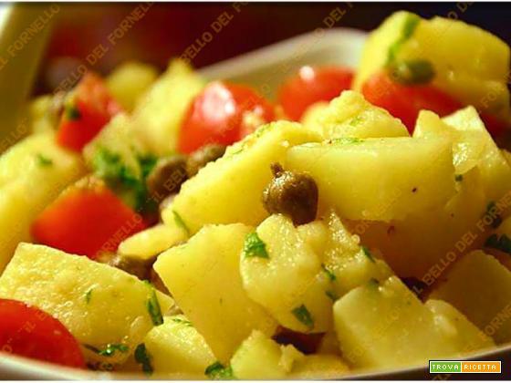 Insalata di patate pomodori e capperi