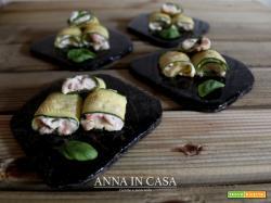 Involtini di zucchine con salmone