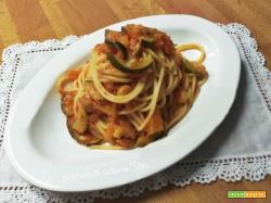 Spaghetti con sugo all'ortolana