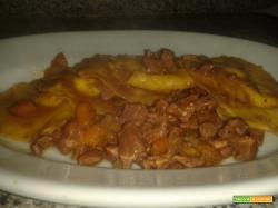 Pasta ripiena di ricotta e scorza d'arancia al sugo d' anatra