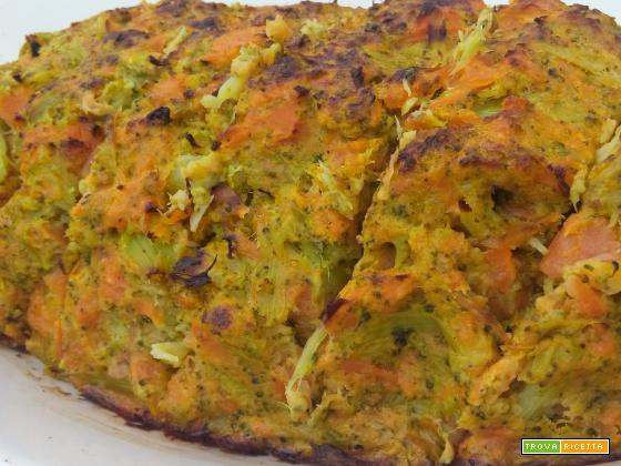 Sformato broccoli e carote