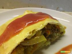 Strudel salato con carne e verdure al curry