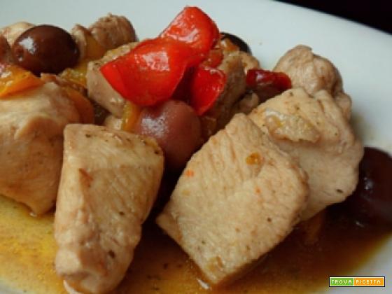 Spezzatino di pollo alla Franceschiello