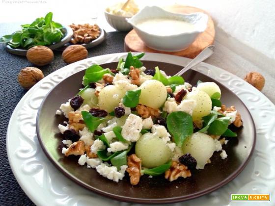 Feta salad con perle di melone bianco