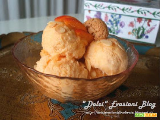 Spumone gelato all'albicocca - senza latte o panna