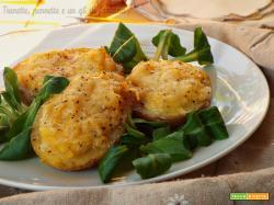 Barchette di patate e zucca filanti