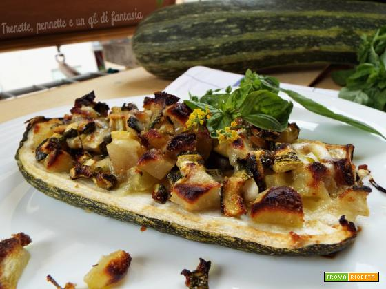 Barchette di zucchine e patate fumè