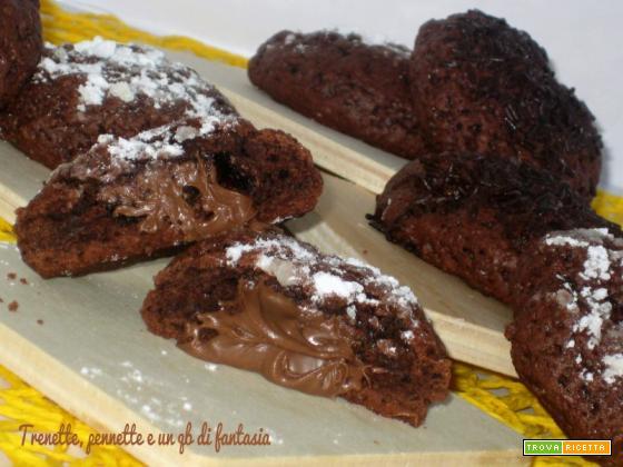 Biscotti al cacao e nutella con albumi