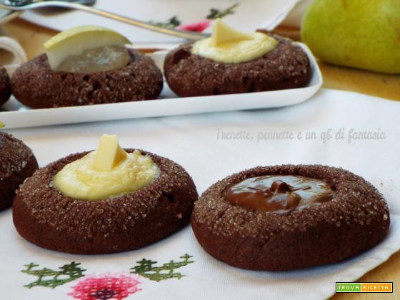 Biscotti al cioccolato alle tre delizie