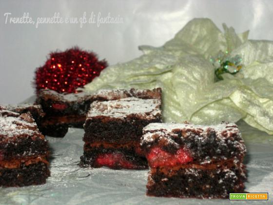 Brownies lamponi e cioccolato