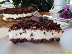 Cheesecake sbriciolata con mousse di ricotta