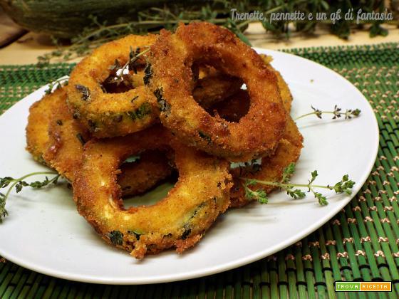 Ciambelle di zucchine fritte all'origano e limone