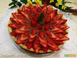 Crostata di cioccolato e fragole