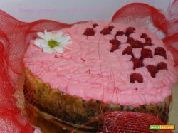Cuore di cheese-cake ai lamponi
