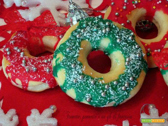 Donuts al forno...versione Natalizia