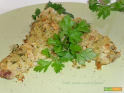 Filetti di merluzzo in crosta di patate