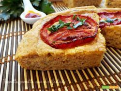 Focaccia brioche con zucchina nduja e pomodoro caramellato
