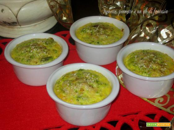 Frittatine di broccoletti siciliani in cocotte